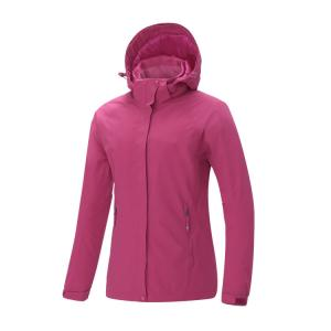 定制女款户外休闲羽绒内胆冲锋衣 lady's 2in 1 outdoor waterproof jacket ,down inner jacket